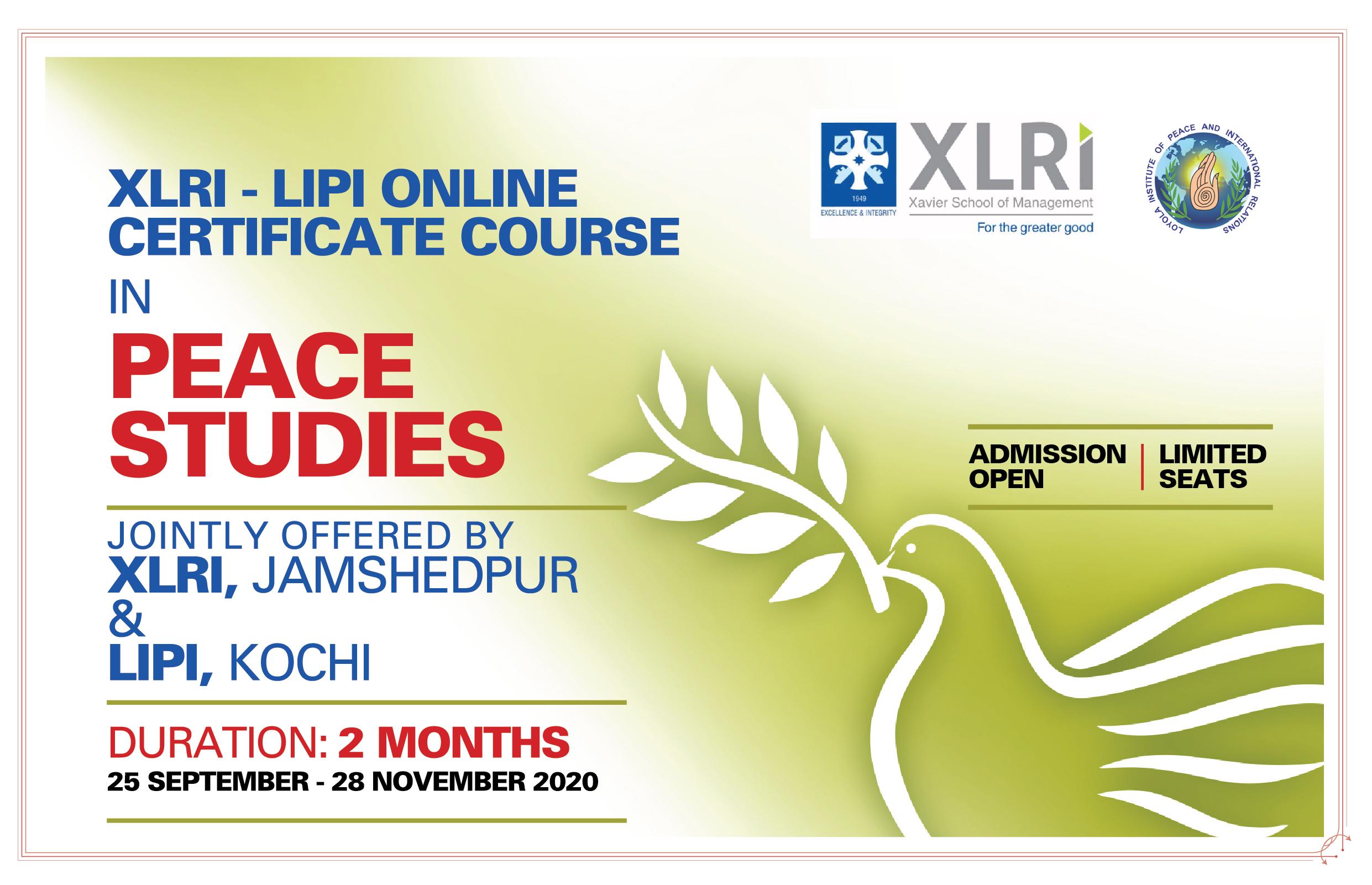 XLRI-LIPI Online Peace Studies