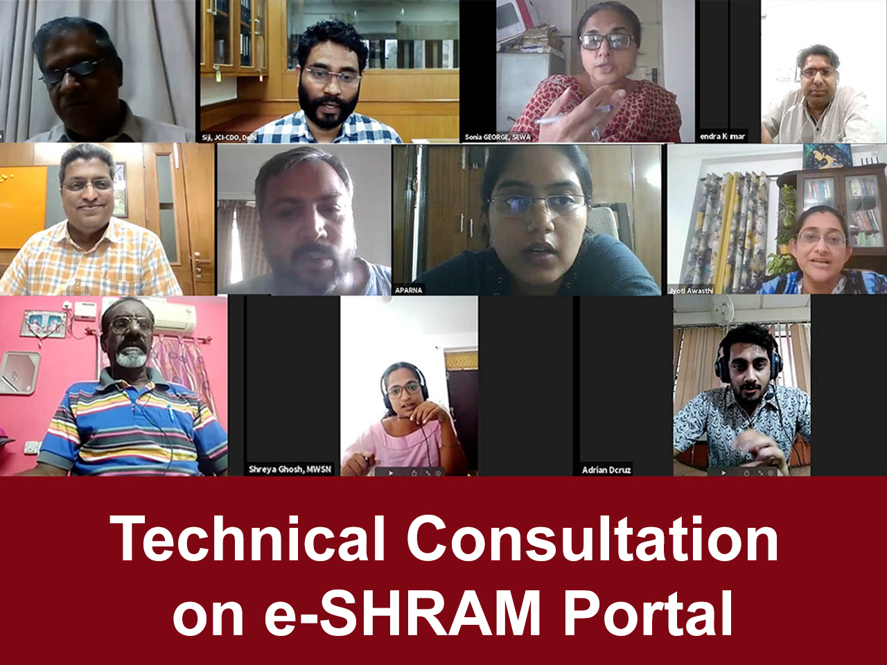 Technical Consultation on e-Shram Portal